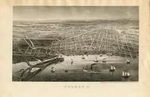 Toledo 1850 to 1899 Bird's Eye View - 68x102.3, Toledo 1850 to 1899 Bird's Eye View - 68x102.3
